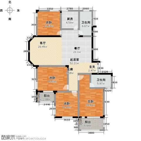 五洲太阳城4室0厅2卫1厨201.00㎡户型图