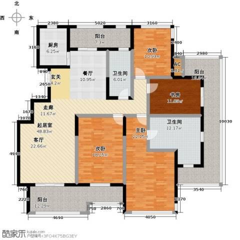 君悦・东湖公馆4室0厅2卫1厨200.00㎡户型图