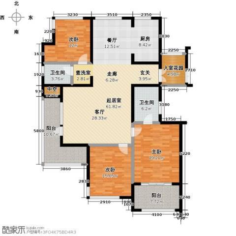 君悦・东湖公馆3室0厅2卫0厨162.00㎡户型图