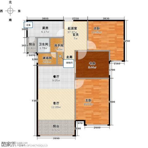 林凯城3室0厅1卫1厨121.00㎡户型图