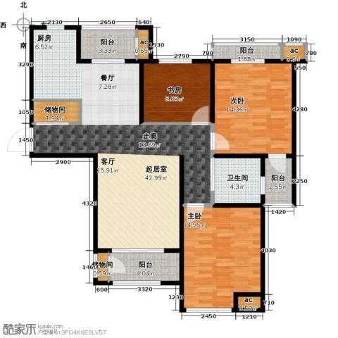 花好月圆3室0厅1卫0厨114.00㎡户型图