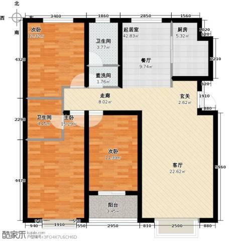 紫阙台3室0厅2卫1厨142.00㎡户型图