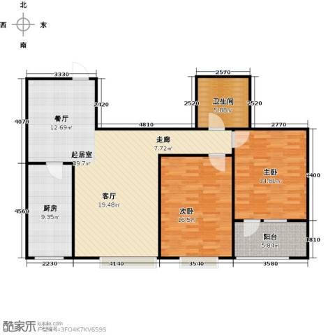 八里庄・盛世华园2室0厅1卫1厨123.00㎡户型图