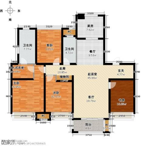 万科城4室0厅2卫1厨150.00㎡户型图