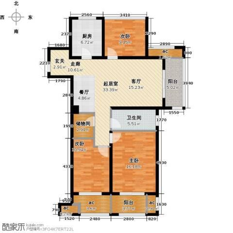 万科城3室0厅1卫1厨118.00㎡户型图