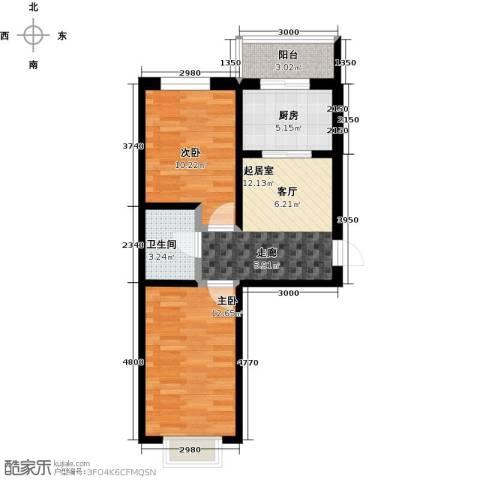 和泰馨城2室0厅1卫1厨68.00㎡户型图