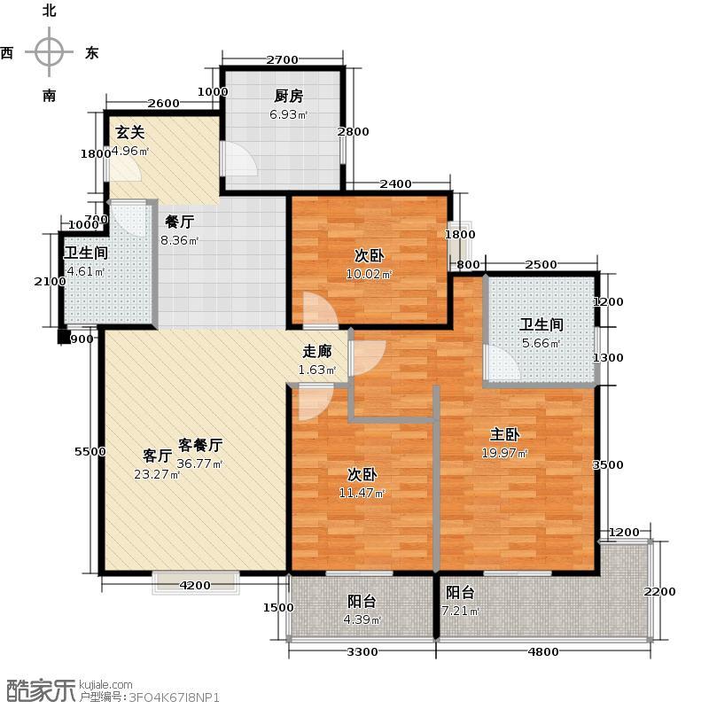 朱雀坊138.00㎡朱雀坊3室2厅2卫138平米D户型3室2厅2卫