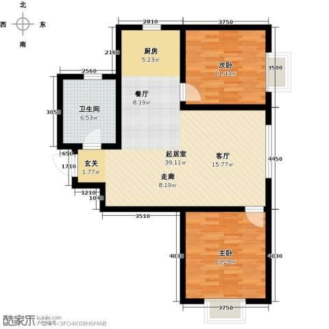 融域1342室0厅1卫0厨79.00㎡户型图