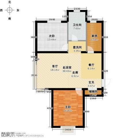 融域1342室0厅1卫1厨96.00㎡户型图