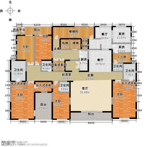 自在山5室1厅5卫3厨456.00㎡户型图
