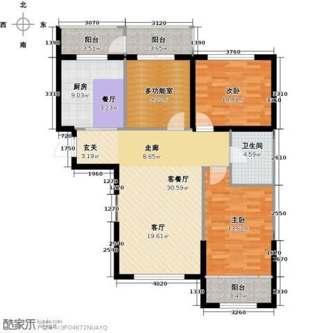 鼎力叶知林2室1厅1卫1厨116.00㎡户型图