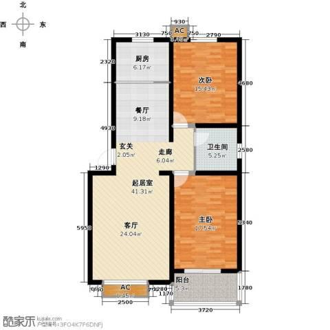 隶都景苑2室0厅1卫1厨105.00㎡户型图
