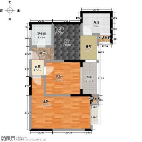 蓝湾星宸花园2室0厅1卫1厨78.00㎡户型图