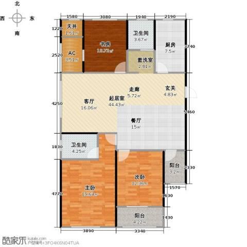 万联凤凰城3室0厅2卫1厨138.00㎡户型图