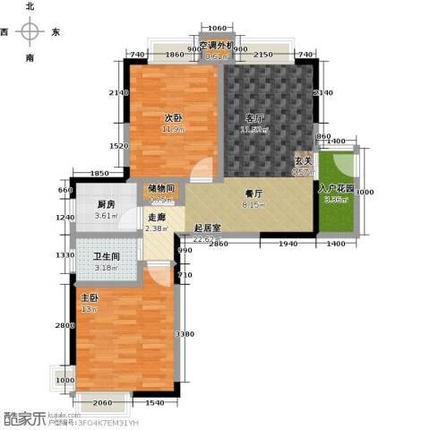 蓝湾星宸花园2室0厅1卫1厨83.00㎡户型图