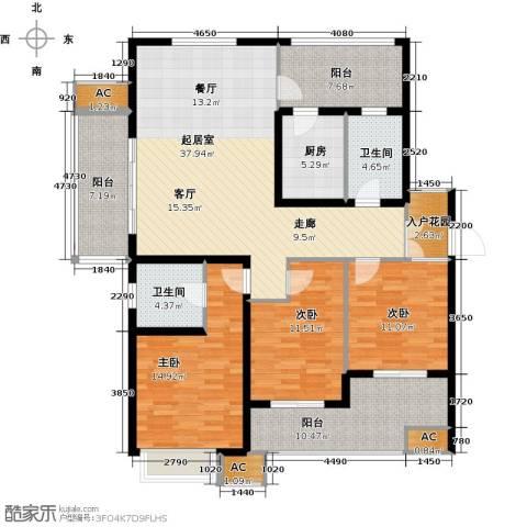 星雨华府3室0厅2卫1厨142.00㎡户型图