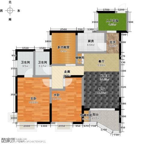 蓝湾星宸花园2室0厅2卫1厨103.00㎡户型图