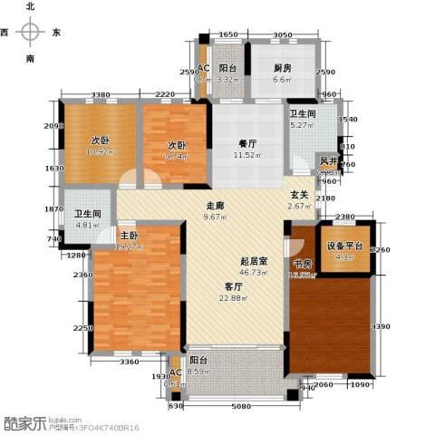 中港城世家4室0厅2卫1厨161.00㎡户型图