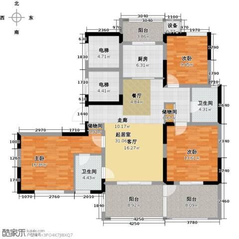 苏建名都城3室0厅2卫1厨169.00㎡户型图
