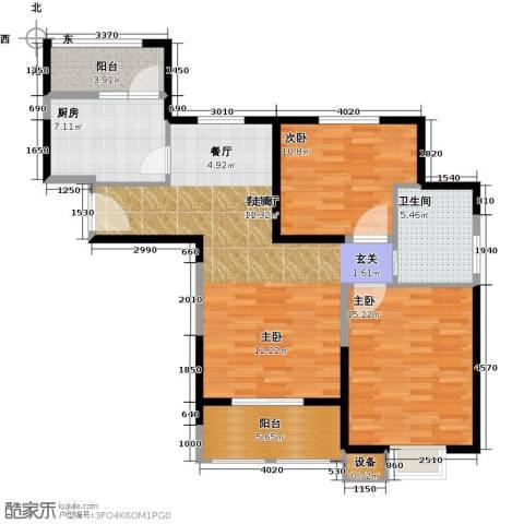 天保月湾2室1厅1卫1厨111.00㎡户型图