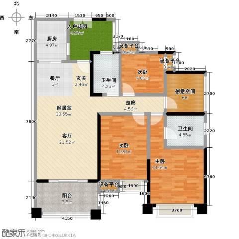 保利香槟国际3室0厅2卫1厨130.00㎡户型图