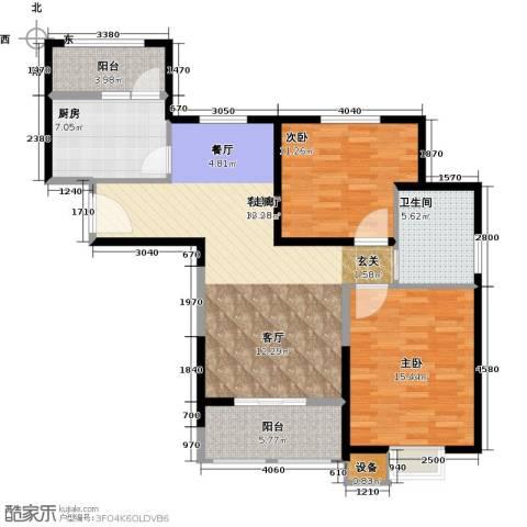 天保月湾2室1厅1卫1厨94.00㎡户型图