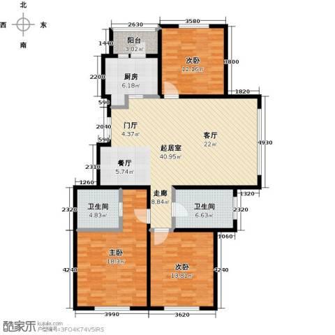 玖郡3室0厅2卫1厨118.00㎡户型图