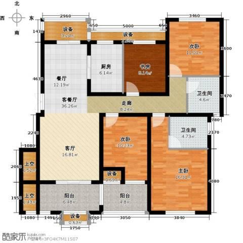 保利海上五月花4室1厅2卫1厨126.00㎡户型图
