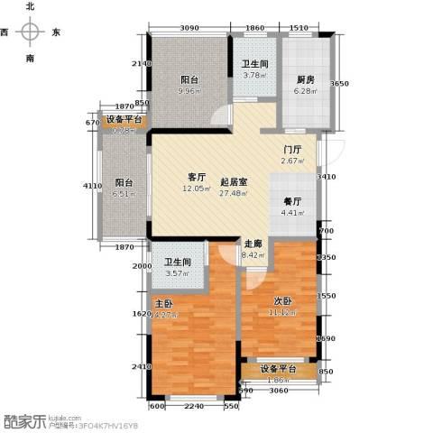 金辉・悦府2室0厅2卫1厨98.00㎡户型图