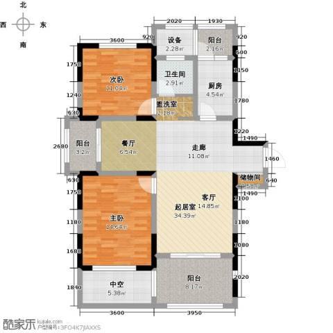 苏建名都城2室0厅1卫1厨130.00㎡户型图