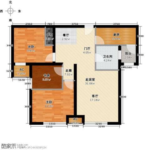 万锦香颂3室0厅1卫1厨103.00㎡户型图