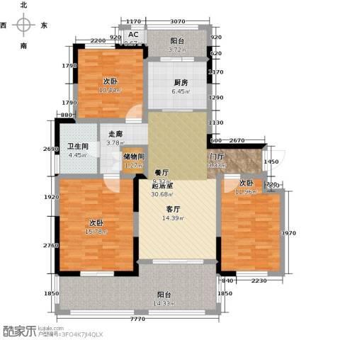 苏建名都城3室0厅1卫1厨144.00㎡户型图