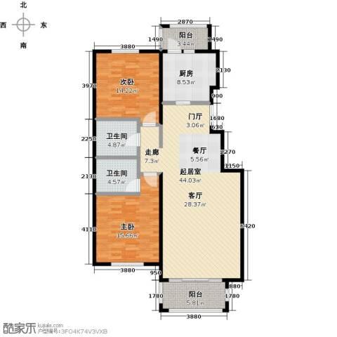 玖郡2室0厅2卫1厨114.00㎡户型图