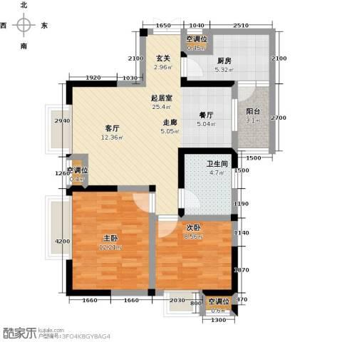 瑞麟国际新城2室0厅1卫1厨86.00㎡户型图