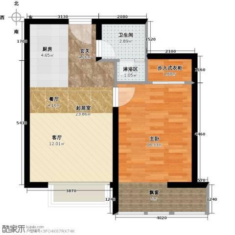 中信海港城1室0厅1卫0厨54.00㎡户型图