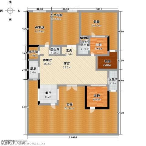 新地威登小镇3室1厅3卫1厨177.00㎡户型图