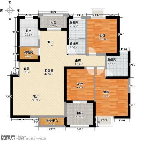 曲江观山悦3室0厅2卫1厨139.00㎡户型图