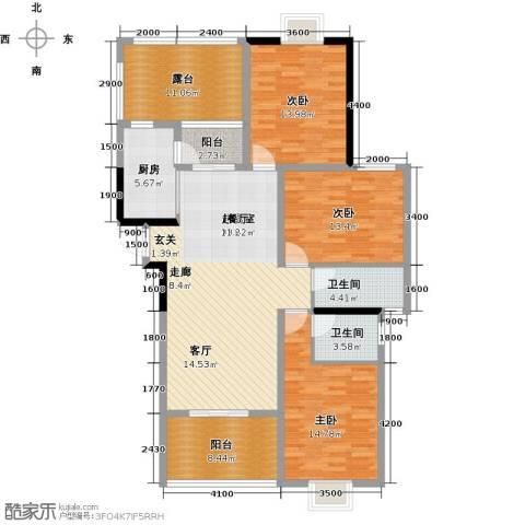 运河名都3室0厅2卫1厨140.00㎡户型图