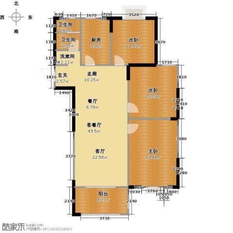 滨河新天地3室1厅2卫1厨149.00㎡户型图