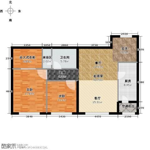 中信海港城2室0厅1卫1厨105.00㎡户型图
