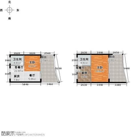 保利・半岛1号2厅2卫0厨83.20㎡户型图