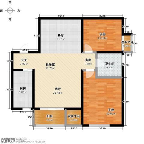 九号国际城2室0厅1卫1厨91.00㎡户型图