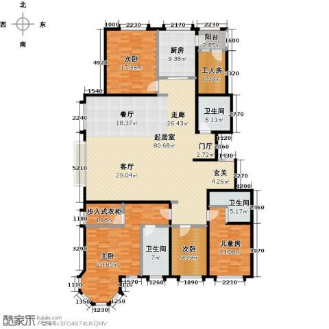 玖郡4室0厅3卫1厨206.00㎡户型图