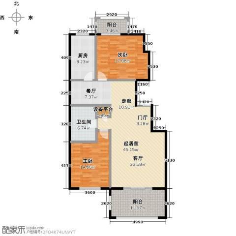 玖郡2室0厅1卫1厨120.00㎡户型图