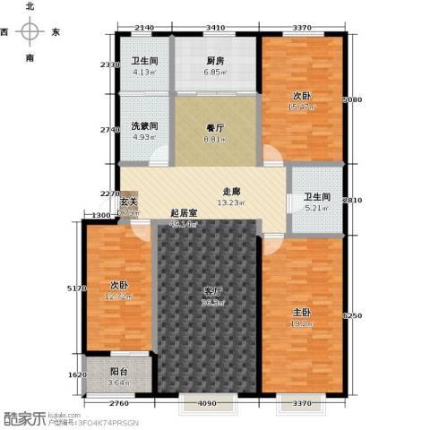 新世纪花园B区3室0厅2卫1厨140.00㎡户型图