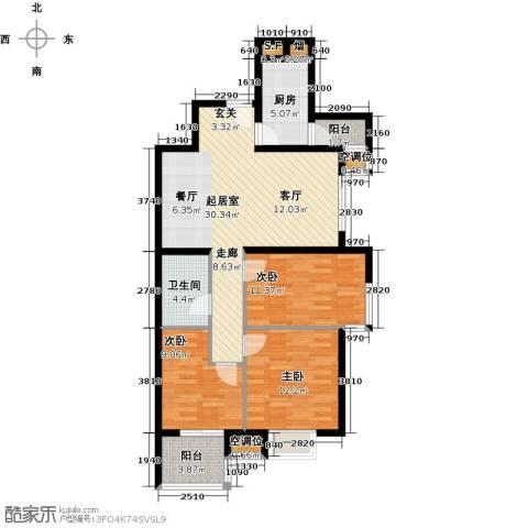 永康水印城3室0厅1卫1厨115.00㎡户型图