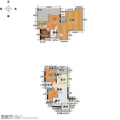 英伦蓝岸4室1厅2卫1厨195.00㎡户型图