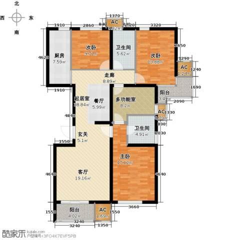 九号国际城3室0厅2卫1厨134.00㎡户型图