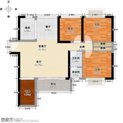 中央御园4室1厅1卫1厨109.00㎡户型图