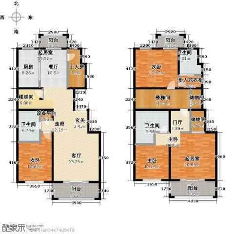 玖郡3室0厅3卫1厨232.00㎡户型图